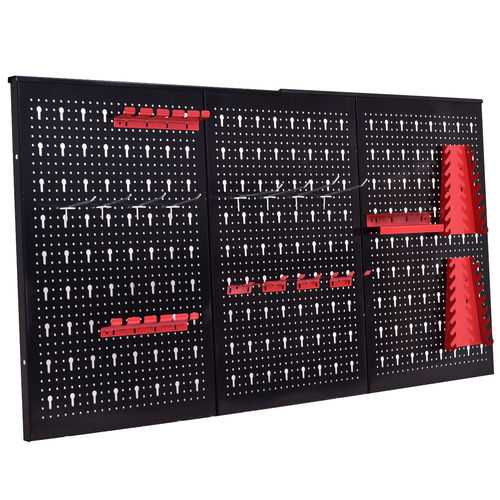 "24"" x 48"" Metal Pegboard Garage Tool Board Holder"
