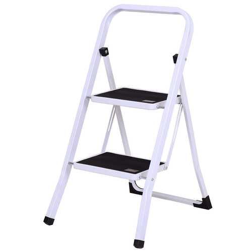 2 Steps Folding Heavy Duty Steel Anti-slip Ladder