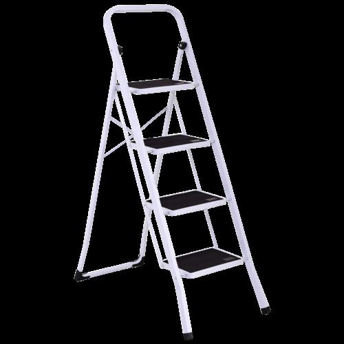 4 Steps Folding Heavy Duty Steel Anti-slip Ladder