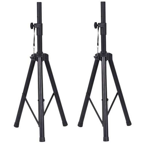 Pair of Tripod Speaker Stands with Carry Bag & Cables
