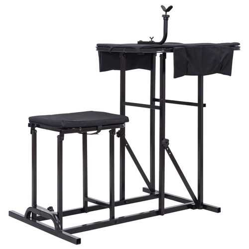 Folding Shooting Bench with Adjustable Height Adjustable Table