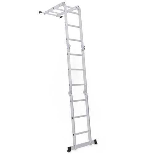 12.5FT EN131 Multi Purpose Step Aluminum Folding Scaffold Ladder