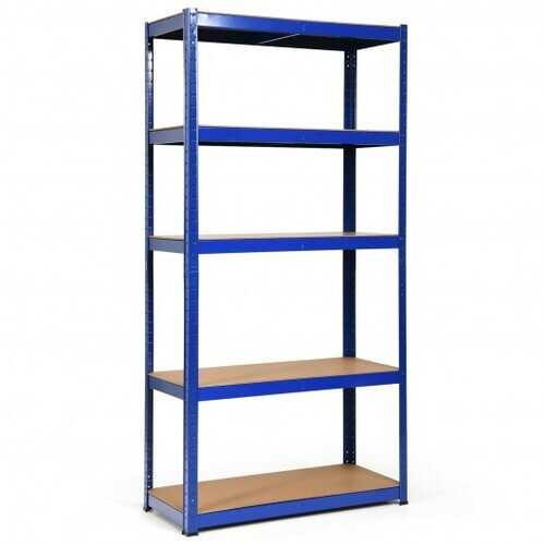 """72"""" Storage Shelf Steel Metal 5 Levels Adjustable Shelves-Navy - Color: Navy"""