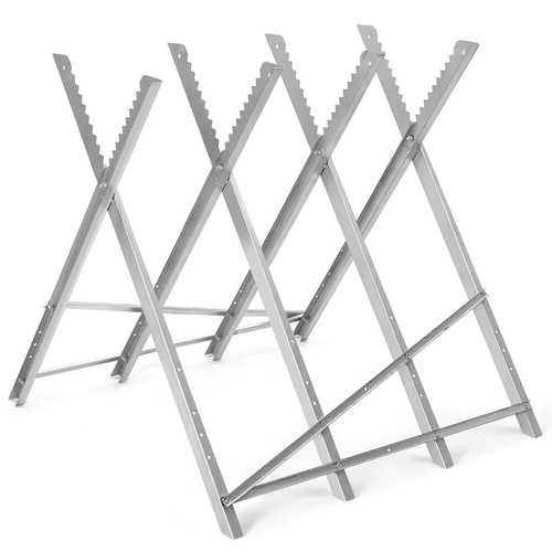 220 lbs Heavy Duty Portable Foldable Steel Sawhorse