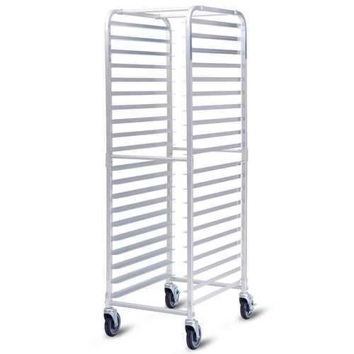 "26"" x 20"" x 70"" 20 Sheet Aluminum Pan Rolling Bakery Rack"