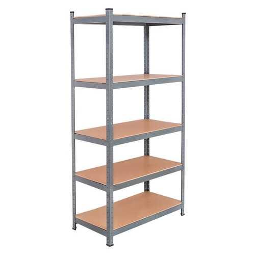 "71"" Heavy Duty Steel Adjustable 5 Level Storage Shelves-Gray"