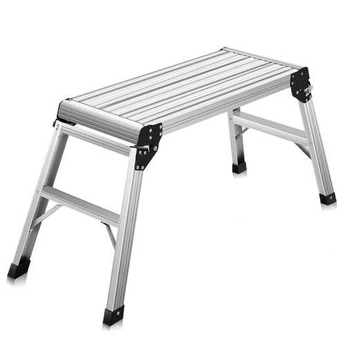 Heavy Duty Portable Bench Aluminum Folding Step Ladder