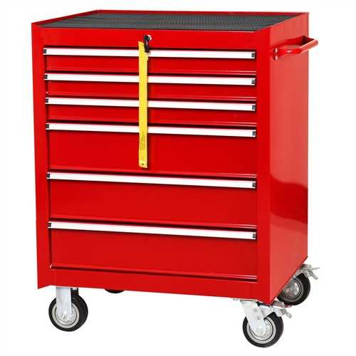 "30"" Rolling Tool Box Storage Tool Cabinet with 6 Drawers"