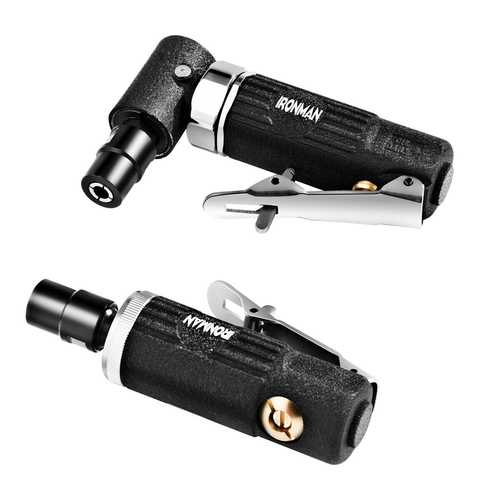 """2 Pcs 1/4"""" Straight and Right Angled Air Die Grinder"""