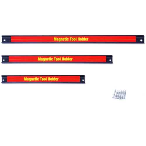 "3 PCS 8"" 12"" 18"" Magnetic Tool Holder Bar Organizer Storage Rack Knife Wrench"