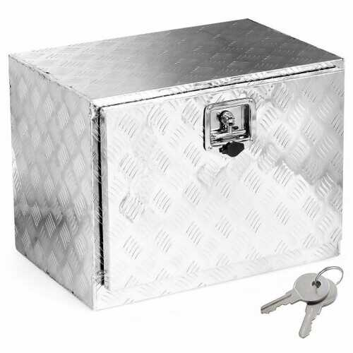 "24"" Aluminum Truck Trailer Pickup Storage Underbody Tool Box - Color: Silver"
