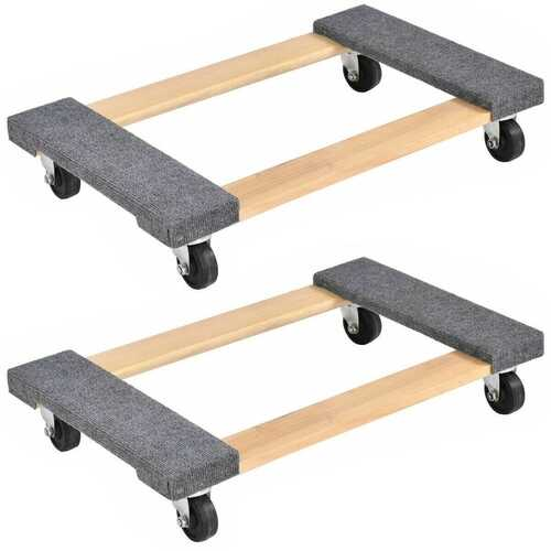 """2PCS Furniture Dolly Moving Carrier 1000lbs Capacity 30""""18"""""""