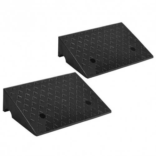"2 PCS 5"" Rubber Car Curb Ramps"