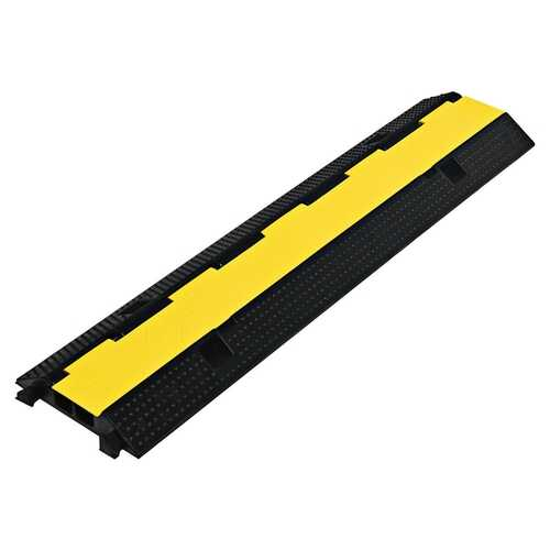 2 Channel Rubber Floor Cable Protectors Traffic Speed Bump