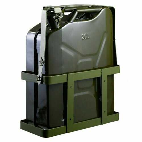 5 Gallon 20L Gas Jerry Can Fuel Steel Tank Military Green w/ Holder New