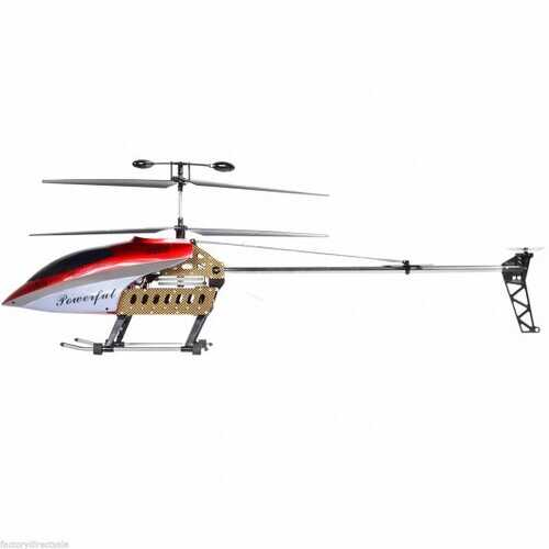 "42 Inch 2 Speed GT QS8005 3.5 Ch 42"" RC Helicopter Builtin Gyroscope New Version - Color: Red"