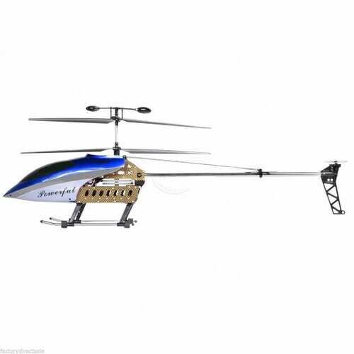 "42 Inch 2 Speed GT QS8005 3.5 Ch 42"" RC Helicopter Builtin GYRO NEW VERSION Blue - Color: Blue"