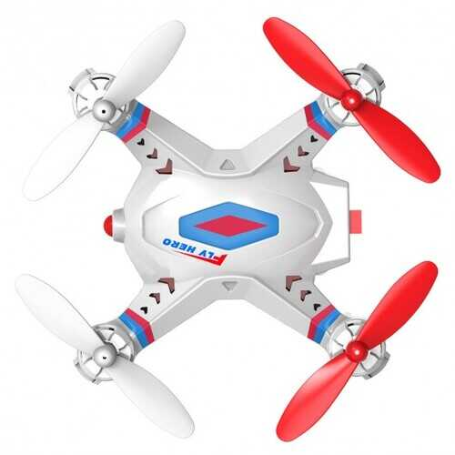 FINECO FX-2 2.4Ghz 5CH Mini Remote Control RC Quadcopter UFO New-White - Color: White