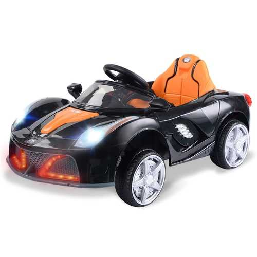 12V RC LED Lights Battery Powered Kids Riding Car