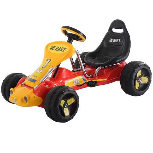 Go Kart Kids Ride On Car Pedal Powered Car 4 Wheel Racer Toy Stealth Outdoor-Red