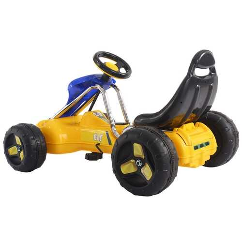 Go Kart Kids Ride On Car Pedal Powered Car 4 Wheel Racer Toy Stealth Outdoor-Yellow