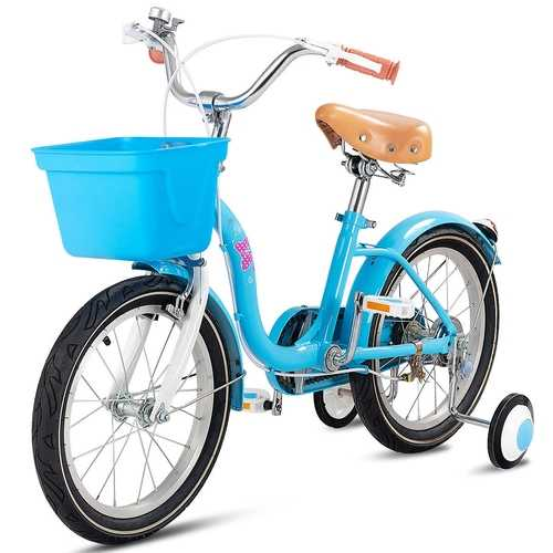 "12"" Outdoor Sports Kids Bike with Training Wheels Basket Bell"
