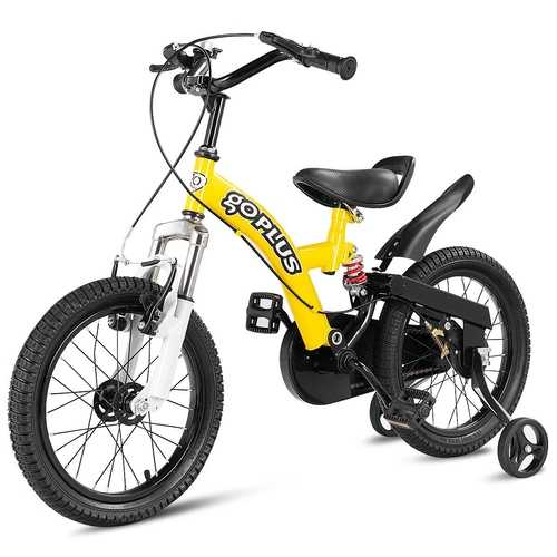 "16"" Kids Bicycle Sports Bike with Training Wheel Brakes"