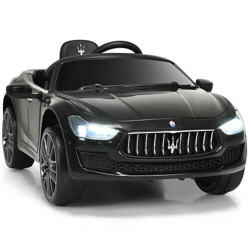 12 V Remote Control Maserati Licensed Kids Ride on Car-Black