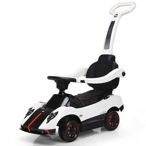 2-in-1 Electric Kids Ride On Push Around Car