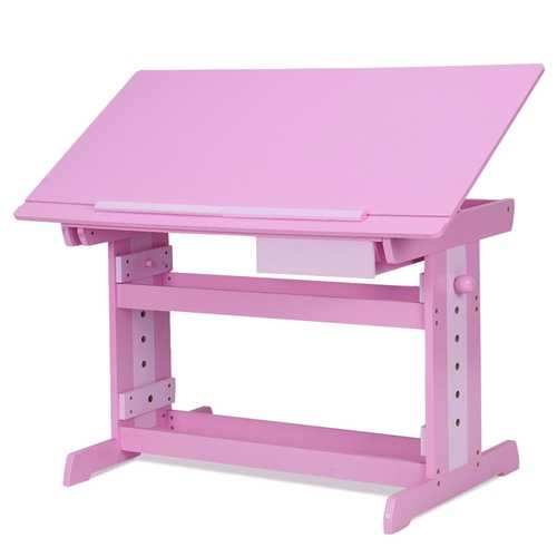 Wooden Adjustable Art Drafting Table with Drawer