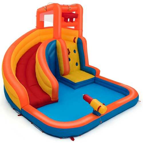 Inflatable Water Bouncer House with Climbing Wall