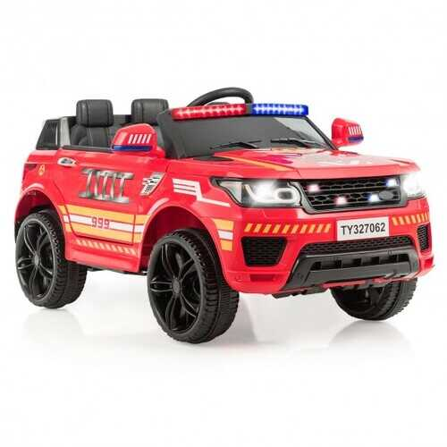 Kids 12 V Battery Powered Electric Ride on Car-Red - Color: Red