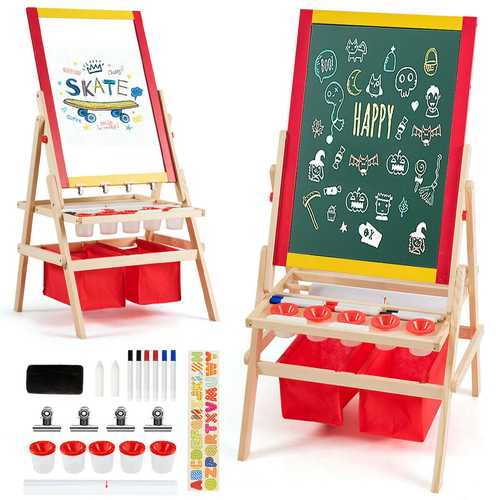 Flip-Over Double-Sided Kids Art Easel
