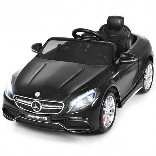 12 V Mercedes-Benz S63 Licensed Kids Ride On Car-Black - Color: Black