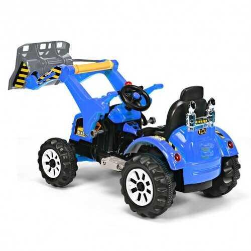 12 V Battery Powered Kids Ride on Dumper Truck-Blue