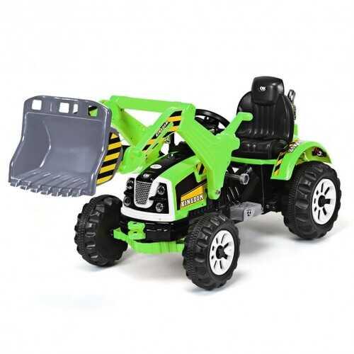 12 V Battery Powered Kids Ride on Dumper Truck-Green