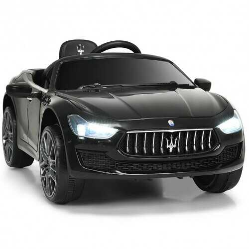 12 V Remote Control Maserati Licensed Kids Ride on Car-Black - Color: Black