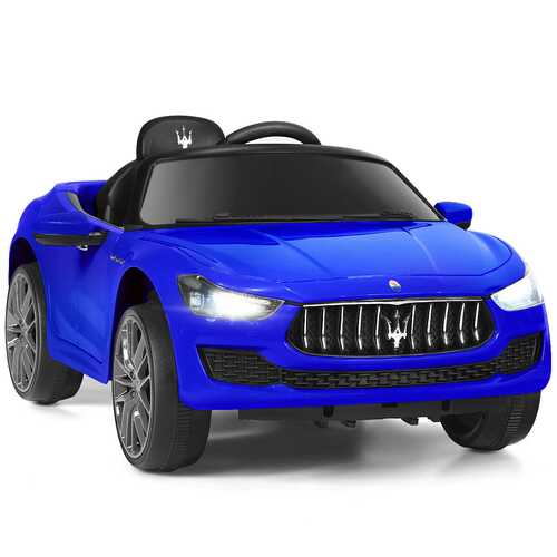 12 V Remote Control Maserati Licensed Kids Ride on Car-Blue - Color: Blue