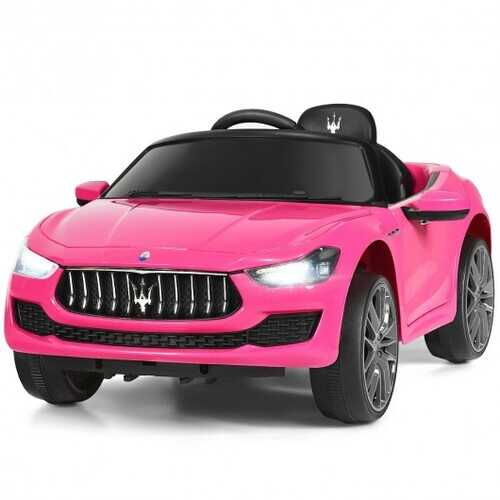 12 V Remote Control Maserati Licensed Kids Ride on Car-Pink - Color: Pink