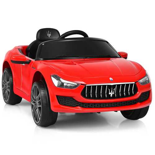12V Remote Control Maserati Licensed Kids Ride on Car-Red - Color: Red