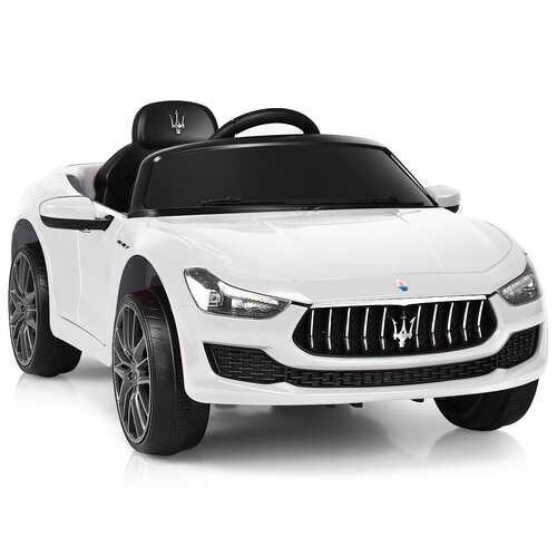 12V Remote Control Maserati Licensed Kids Ride on Car-White - Color: White