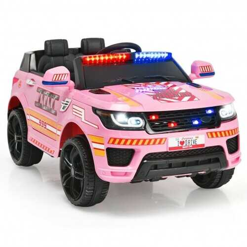 12V Kids Electric Bluetooth Ride On Car with Remote Control-Pink - Color: Pink