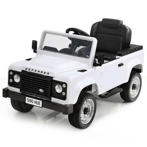 Landrover Defender Licensed Pedal Powered Car-White
