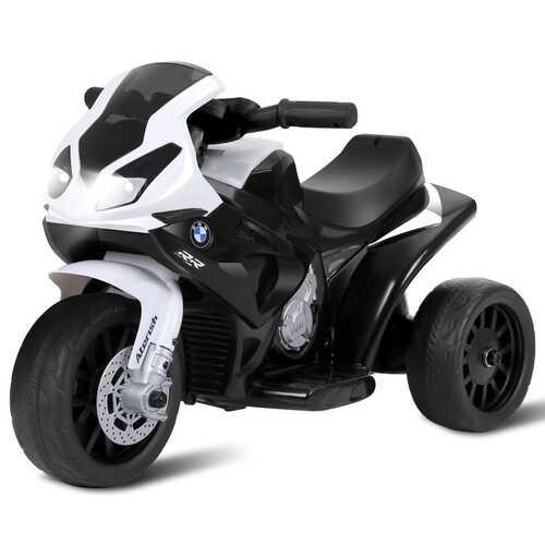 6V Kids 3 Wheels Riding BMW Licensed Electric Motorcycle-Black - Color: Black