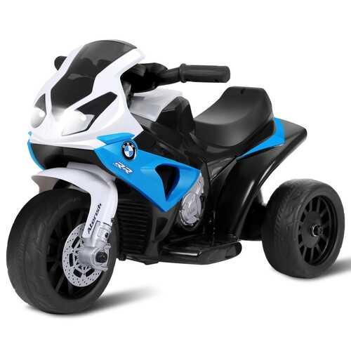 6V Kids 3 Wheels Riding BMW Licensed Electric Motorcycle-Blue - Color: Blue