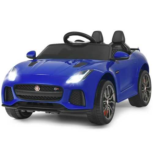 12V Jaguar F-Type SVR Licensed Kids Ride On Car-Navy