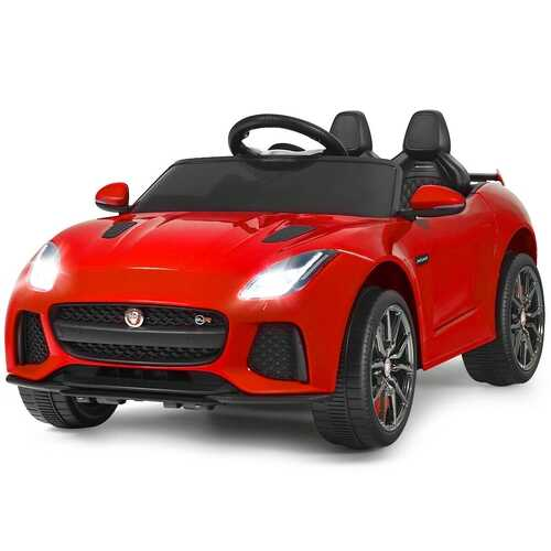 12V Jaguar F-Type SVR Licensed Kids Ride On Car-Red