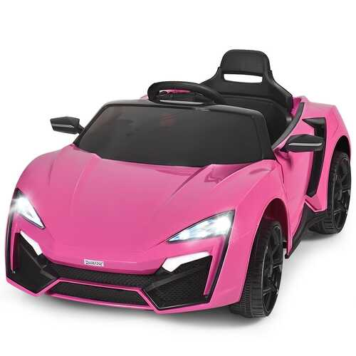 12V 2.4G RC Electric Vehicle with Lights-Pink