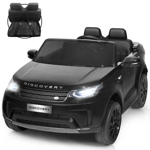 12V Licensed 2-Seater Land Rover Kid Ride On Car -Black - Color: Black