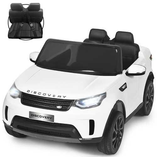 12V Licensed 2-Seater Land Rover Kid Ride On Car -White - Color: White
